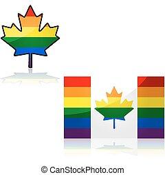 Rainbow Canadian flag