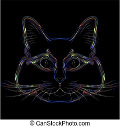 Rainbow cat.