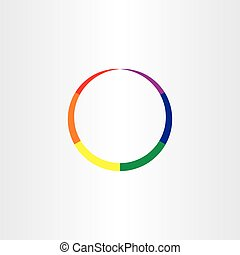 rainbow circle abstract colorful business icon