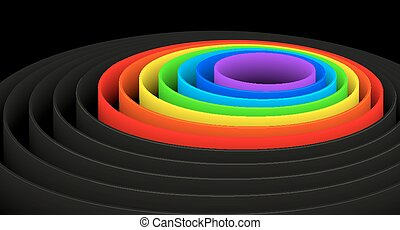 Rainbow Circle abstract