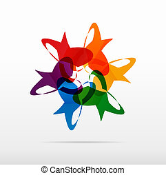rainbow circle abstract vector logo design