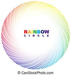 Rainbow circle.