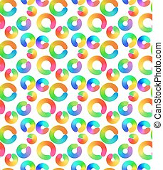 Rainbow circles abstract seamless pattern