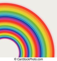 Rainbow circles, vector