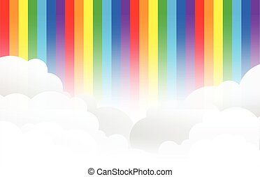 rainbow cloud background