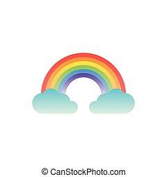 rainbow clouds fantasy gradient style