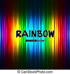 rainbow color backdrop with text