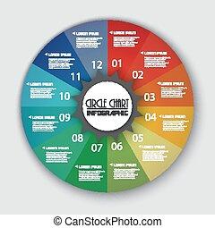 Rainbow Color Circle Chart Info gra