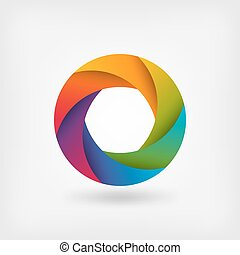 rainbow color circle logo template