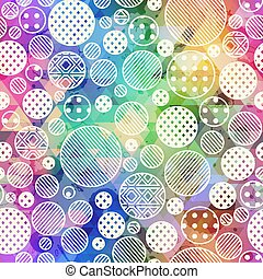 Rainbow color circle pattern.