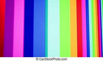 Rainbow color flamboyant lines 3d animation