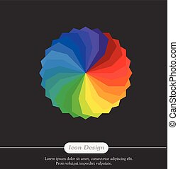 Rainbow Color Palette Vector Illustration
