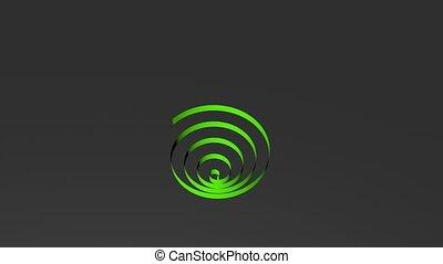 Rainbow Color Tape Spiral Looping, 3D Rendering