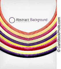 Rainbow color wave abstraction design template