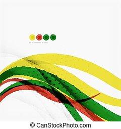 Rainbow color wave stripes