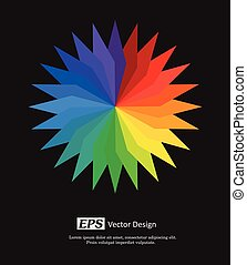 Rainbow Color Wheel Vector