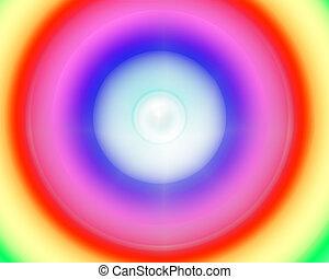 Rainbow colored abstract arcs