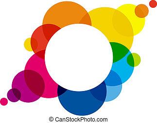 Rainbow Colored Bubbles