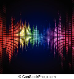 Rainbow colored equalizer effect - A Tiled Rainbow colored...