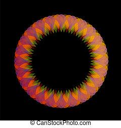 Rainbow colored floral design eleme
