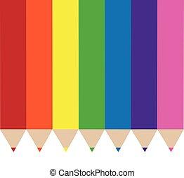 Rainbow Colored Pencils