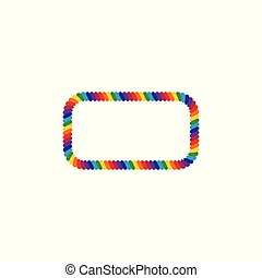 Rainbow Colored Rope LGBT Pride Frame Border Design Element