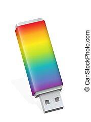 Rainbow Colored USB Flash Drive Computer Fun