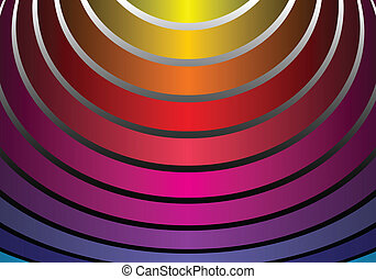Rainbow colored vector arcs