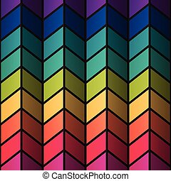 Rainbow colorful stained-glass rectangles abstract...