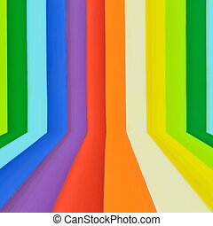 Rainbow colorful wall