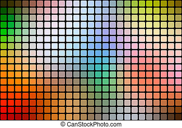 Rainbow colors abstract rounded mosaic background over black