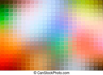 Rainbow colors abstract rounded mosaic background