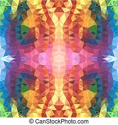 Rainbow colors abstract triangles background