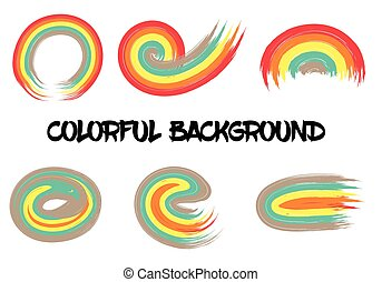 Rainbow colors abstract vector circle frame
