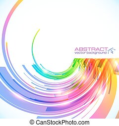 Rainbow colors abstract vector shining background