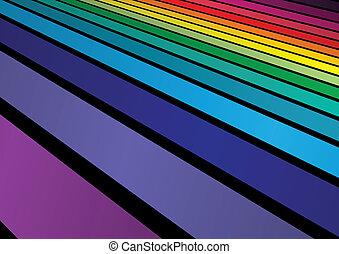 Rainbow colors aranged background