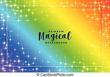 rainbow colors background with sparkles