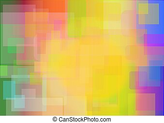 Rainbow colors in a background image with squares