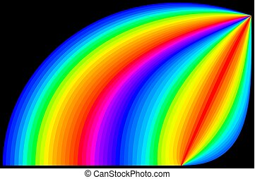 Rainbow colors in black background