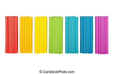 Rainbow colors plasticine