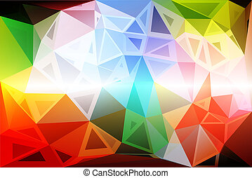 Rainbow colors random sizes low poly background
