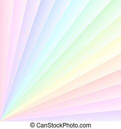 Rainbow colors rays