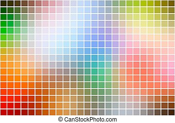 Rainbow colors square mosaic background over white