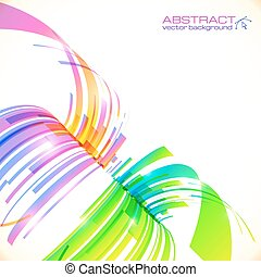 Rainbow colors vector abstract perspective background