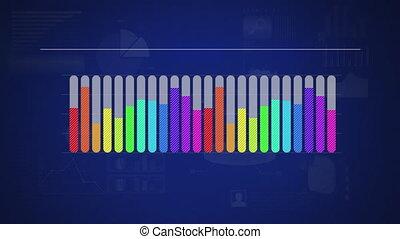 Rainbow coloured bar chart