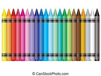 rainbow crayon - Collection of crayons in the colours of the...