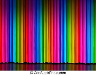 Rainbow ?Curtain on Theater Stage