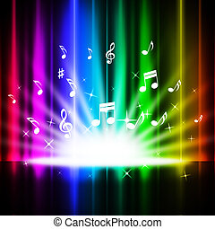 Rainbow Curtains Background Means Music Songs And Stage -...