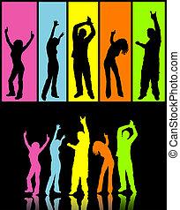 Rainbow dancers - Colourful dancers