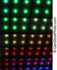 rainbow disco lighting, party